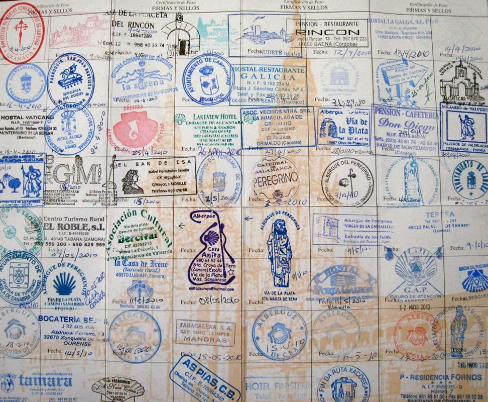 The pilgrim stamps